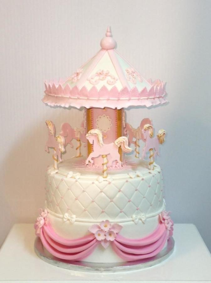 Incredible Carousel Cake By Elisabethcake Torte Di Compleanno Torte Per Personalised Birthday Cards Akebfashionlily Jamesorg