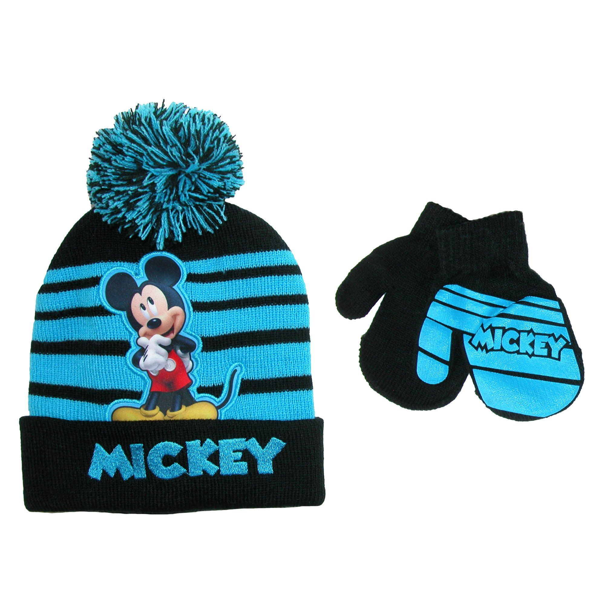 Toddler Disney Mini Mouse Hat /& Mitten Set Pink EW With Tag