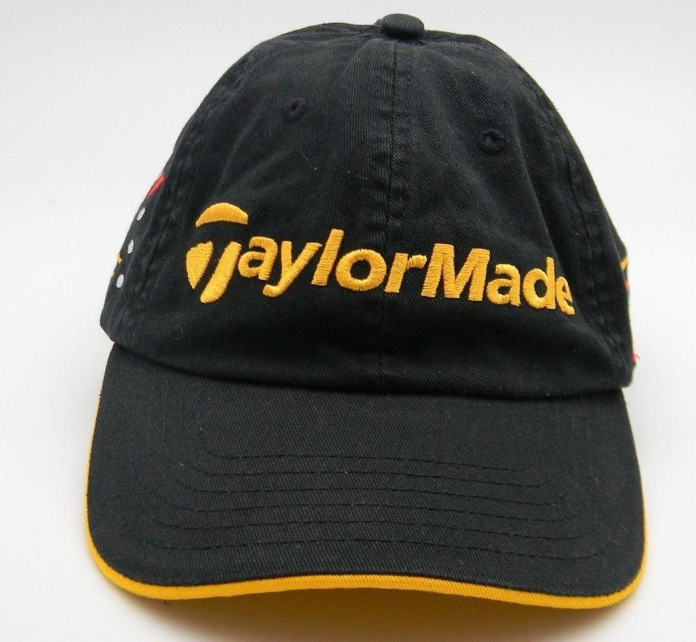 7242771d2c7 TaylorMade Golf Clubs R7 RAC Black Embroidered Curved Bill Fitted Ball Cap L  XL