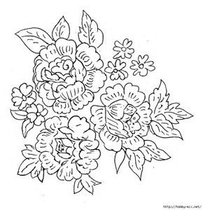 Image Result For Free Watercolor Patterns To Trace Flower