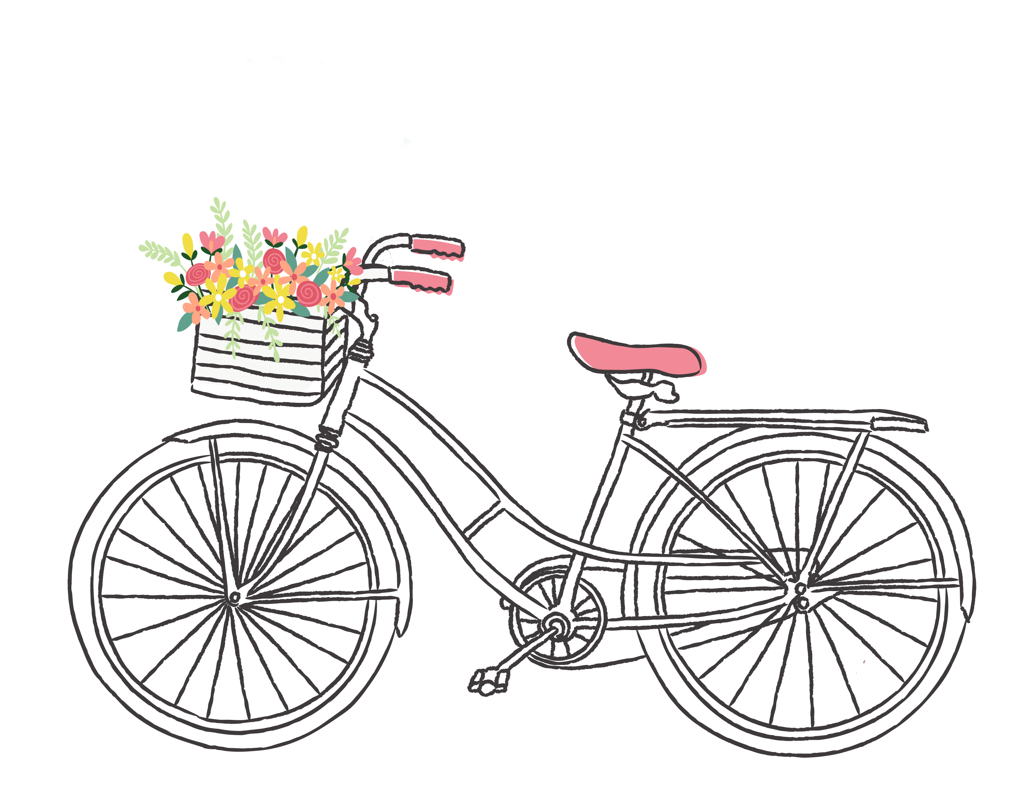 Free Romantic Bicycle Clip Art | Bike drawing, Clip art ...