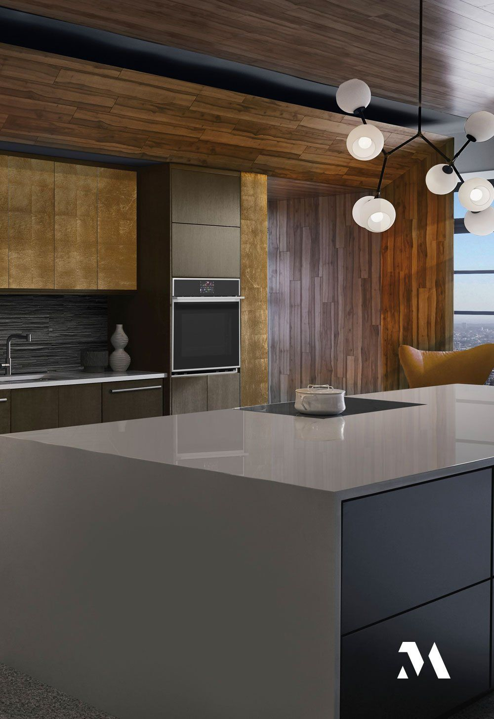 The Laurel Canyon Kitchen Reflects The Exacting Attention To Detail That Epitomizes The Monogram Bran In 2020 Professional Kitchen Appliances Terrazzo Flooring Kitchen