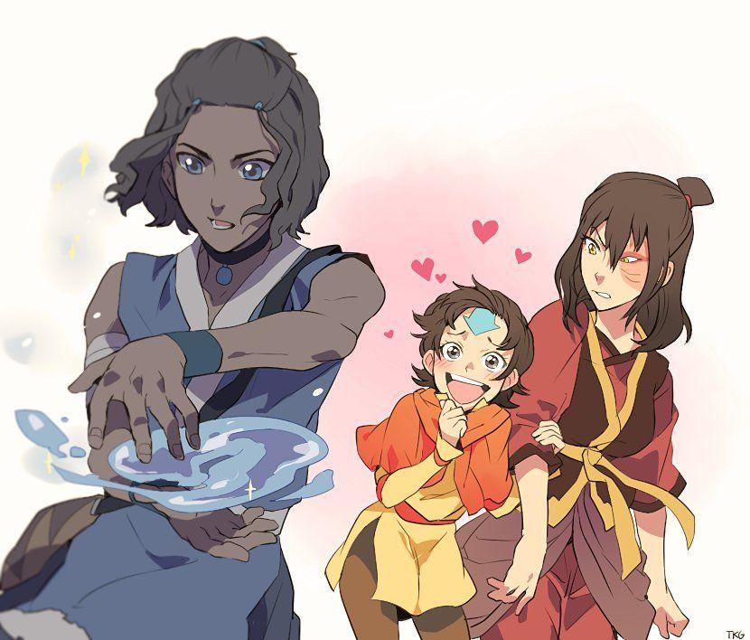 Avatar Aang With Hair: Genderbending (@avakoratron)