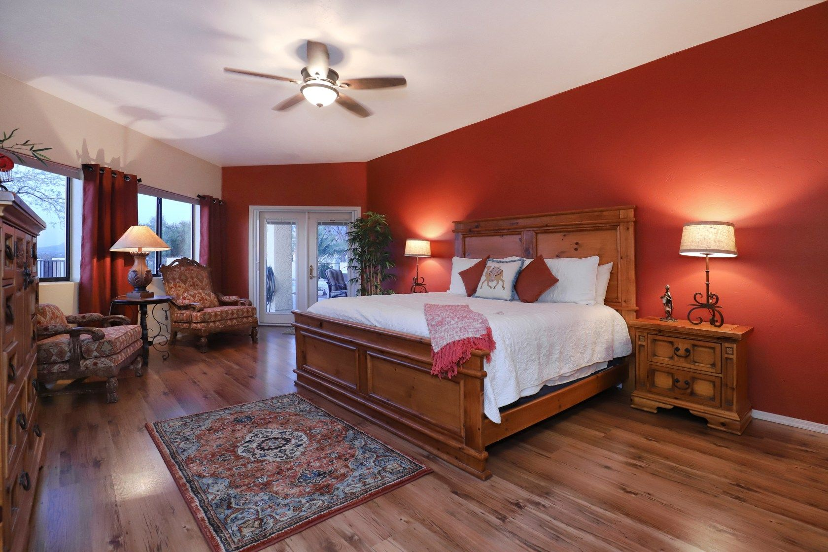 Master bedroom in our tucson vrbo fun places to visit pinterest