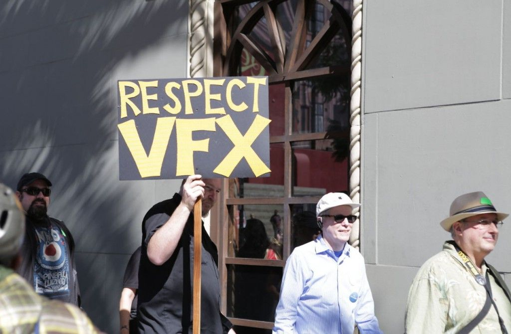 VFX protest at Oscars images from the picket line + audio
