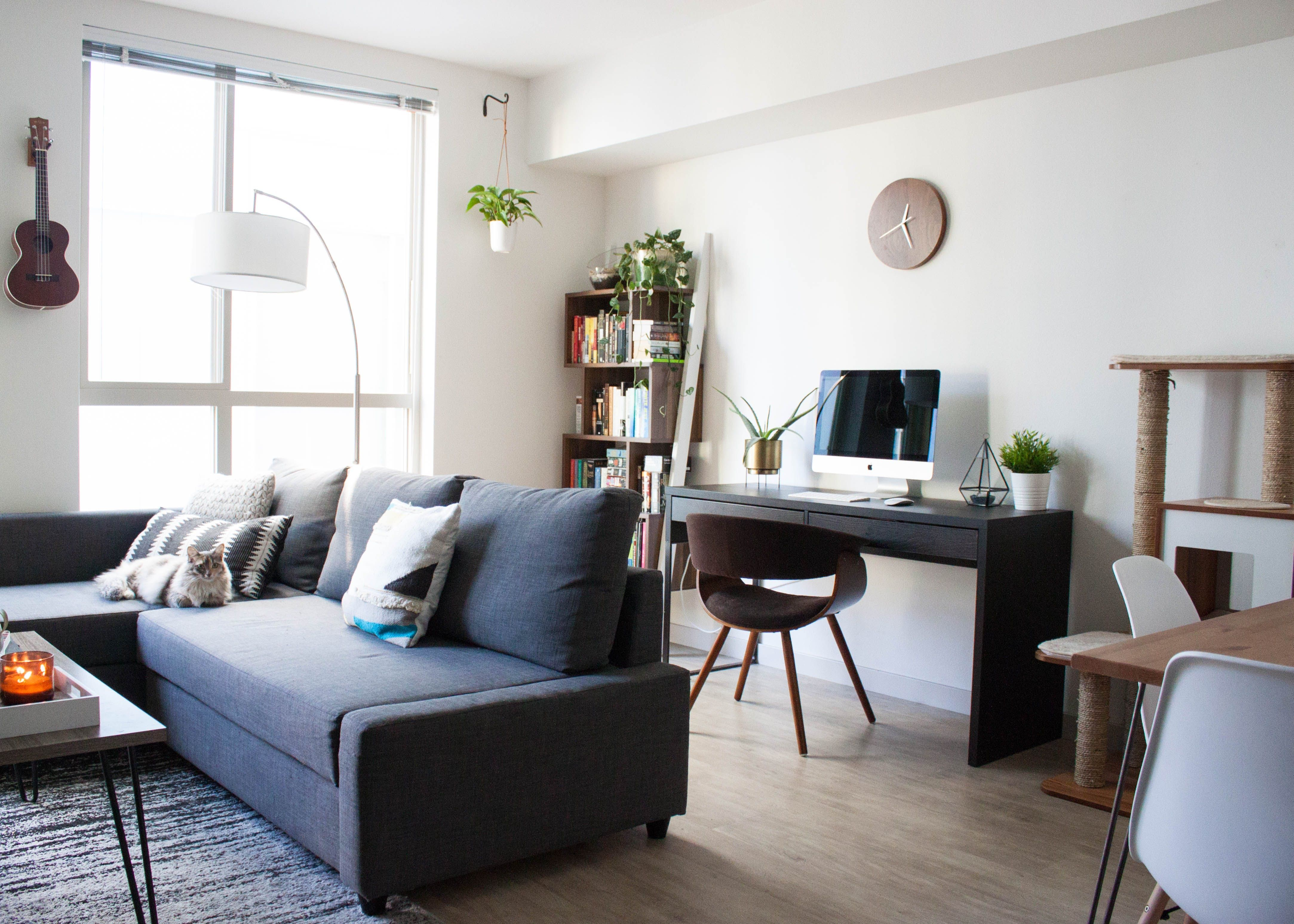 A small seattle studio that looks much larger than it is - Small couch for studio ...