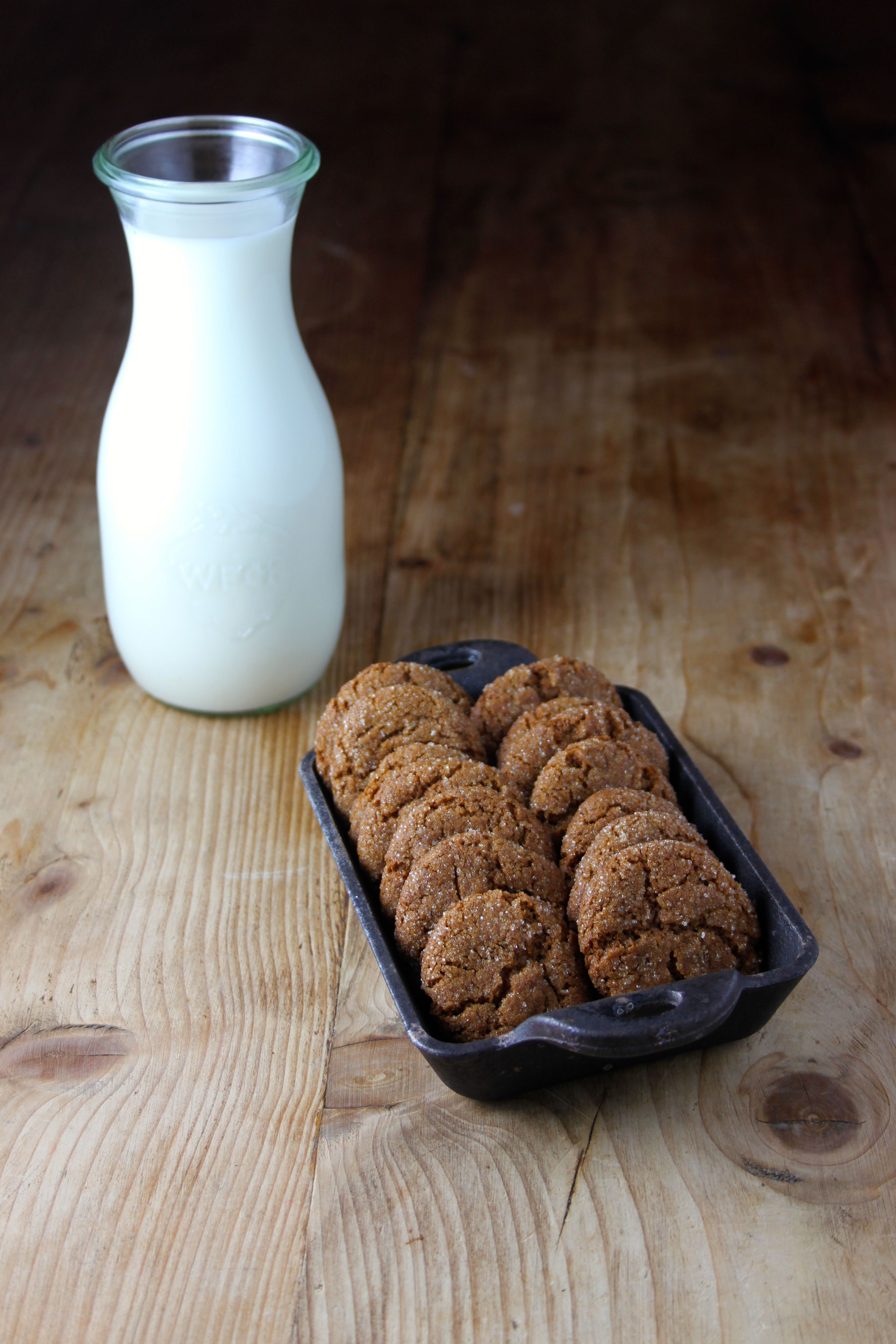Bacon Fat Gingersnaps with a hint of Bourbon