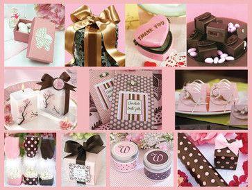 pink black and tan baby shower   Pink and Brown Baby Shower Favors Ideas   Baby Lifestyles