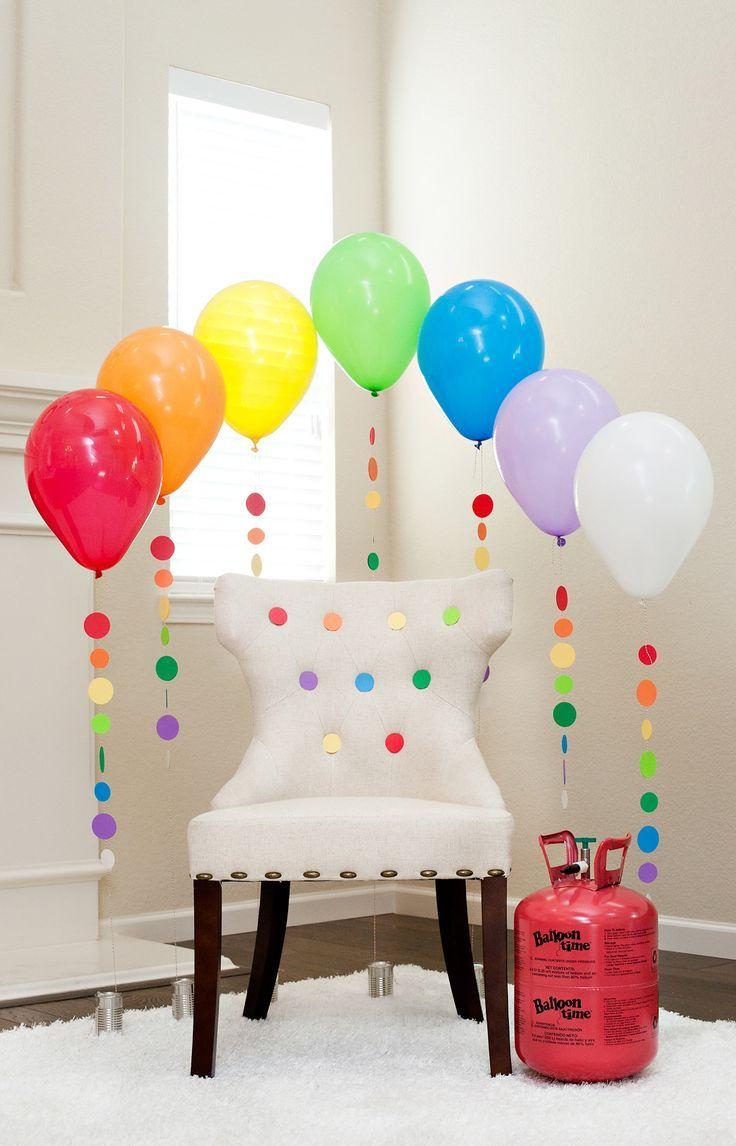 Rainbow Balloon Tassels And Party Chair Diy Tutorial Video Theme Ideas Birthday Inspiration Decorations