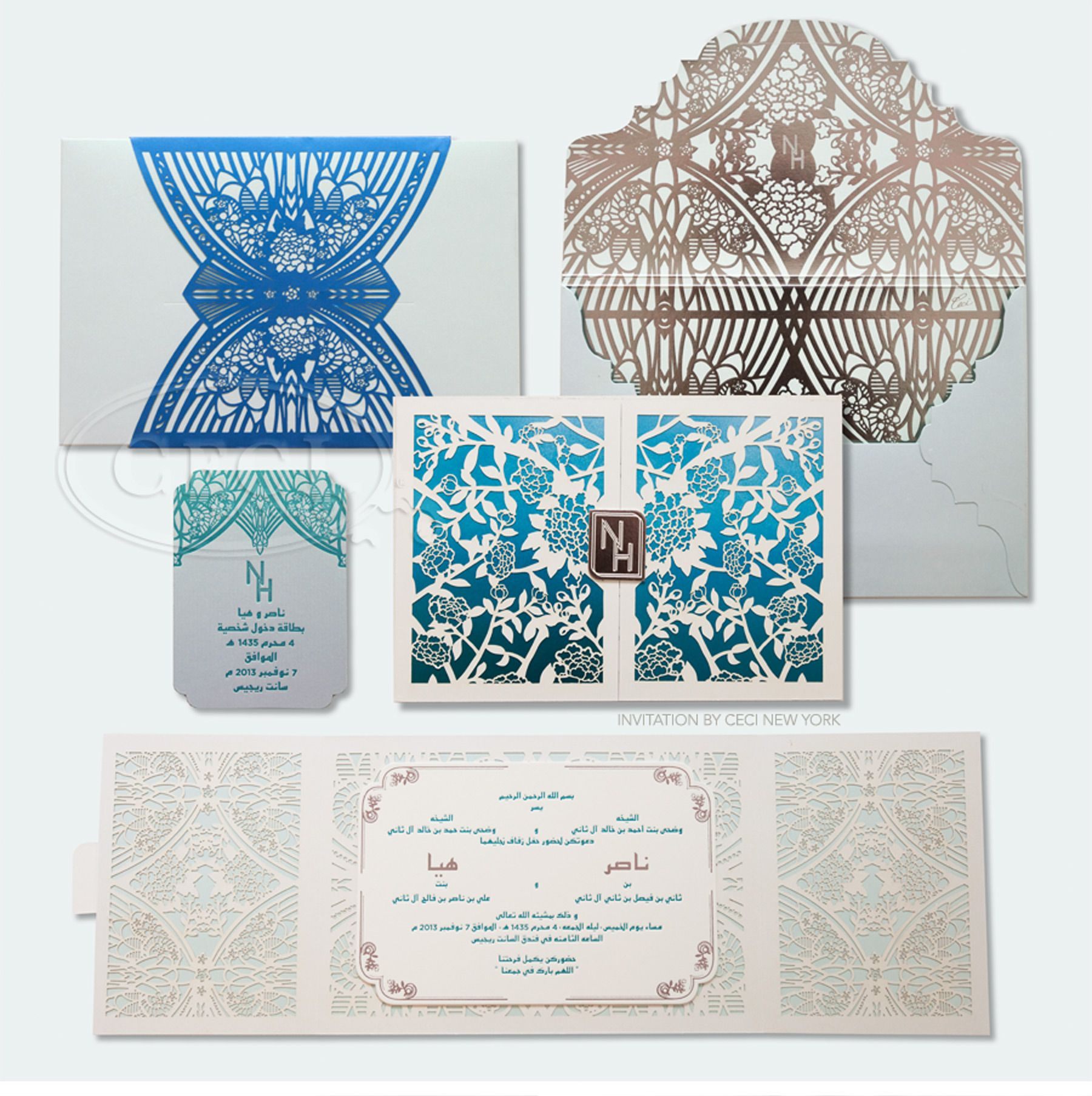 Modern Blue Wedding - Be inspired by Haya & Nasser\'s modern blue ...