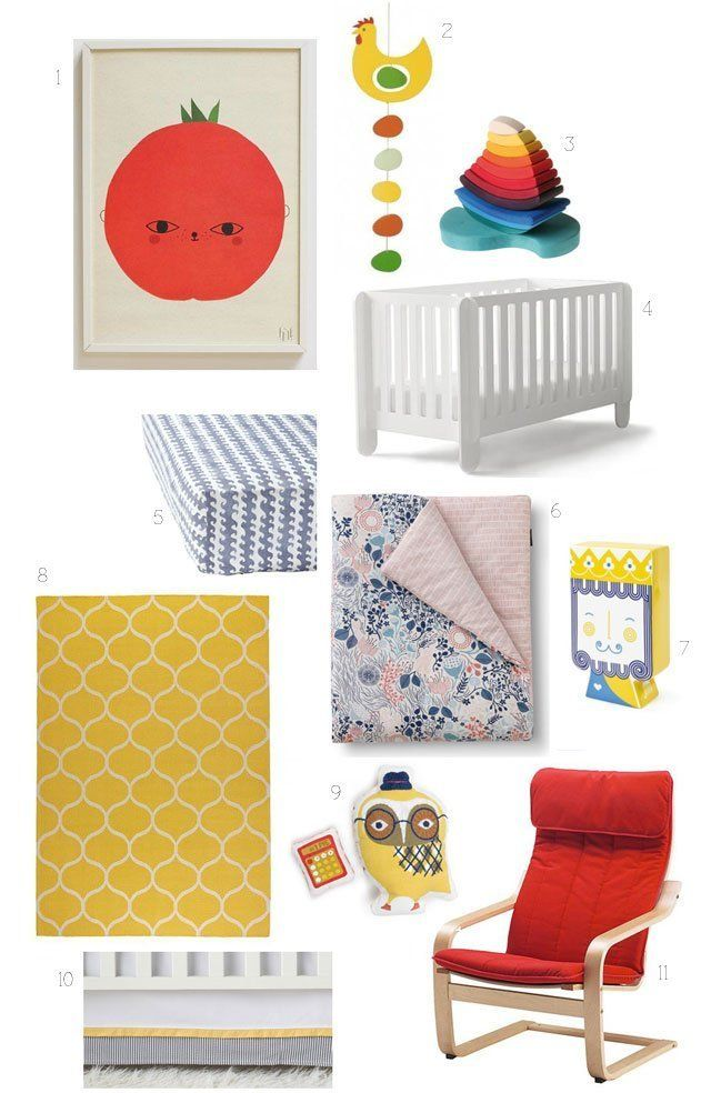 "Kid's Room Style Board: A ""Primarily Primary"" Nursery"