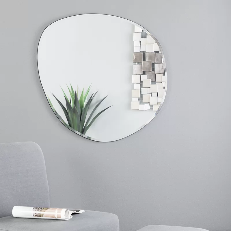 Bogdan Oversized Decorative Glam Beveled Frameless Accent Mirror Accent Mirrors Eclectic Wall Mirrors Mirror