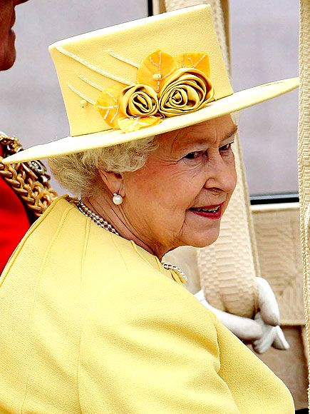 Credit: Peter Macdiarmid/Getty-The Queen shows her sunny side in an all-yellow design by her personal assistant Angela Kelly