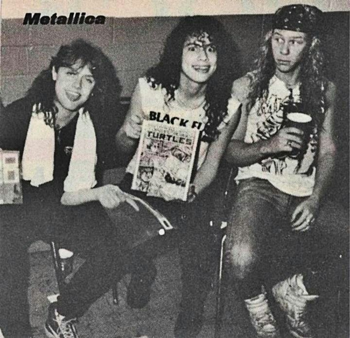 Lars Ulrich Kirk Hammett And James Hetfield Metallica Black Metallica Best Heavy Metal Bands