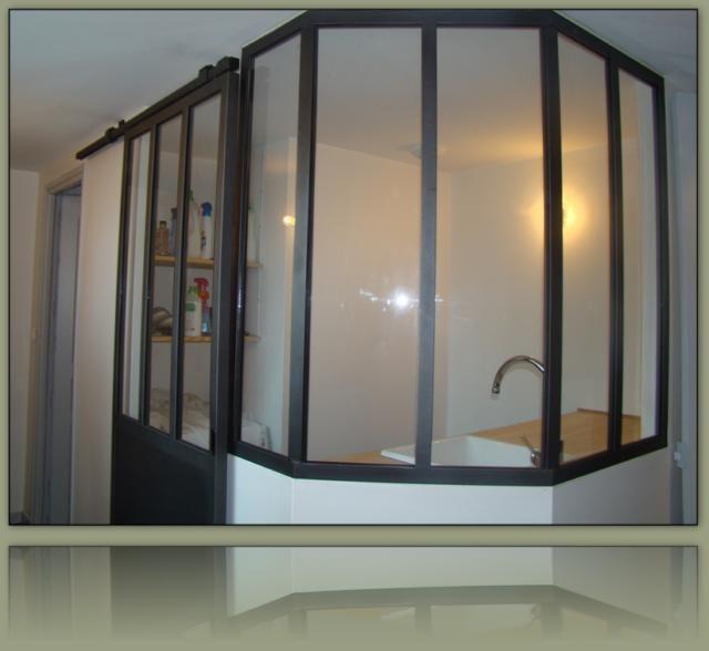porte coulissante verri re suspendue sliding doors pinterest sliding door divider and salons. Black Bedroom Furniture Sets. Home Design Ideas