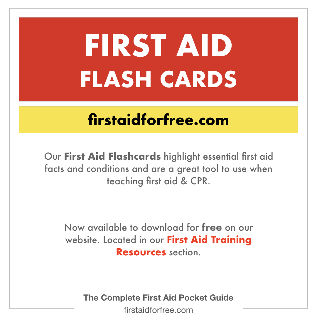 Free First Aid Flashcards Available To Download From Firstaidforfree Com Content Based Upon Our New First Aid Pocke First Aid Tips First Aid Emergency Nursing