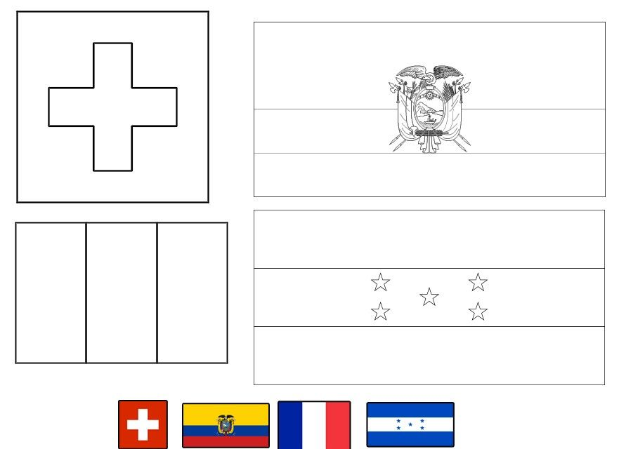 Colombian Flag Coloring Page Awesome Ecuador Flag Coloring Page