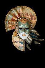 Masque Vénitien Fedora Fan-forme Fait à la Main à Venise!