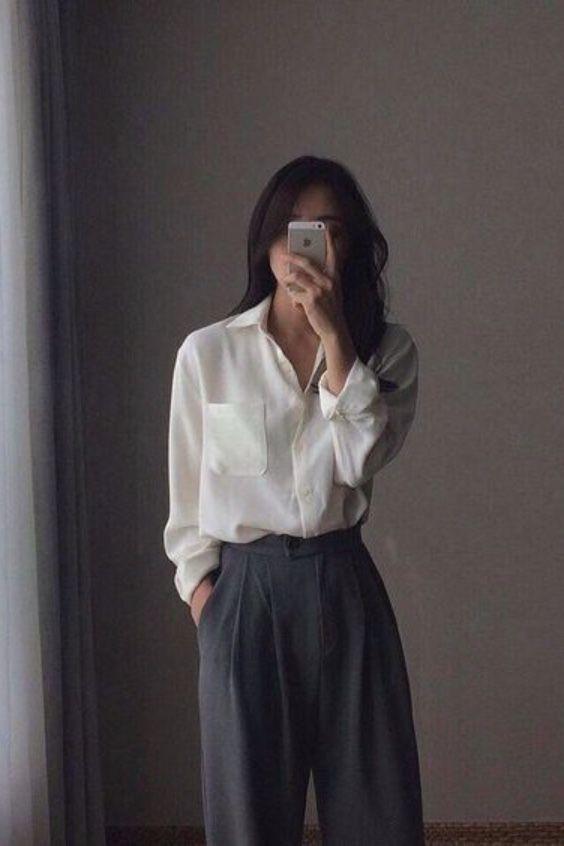 25+ ways to style a button-down shirt #minimalistfashion