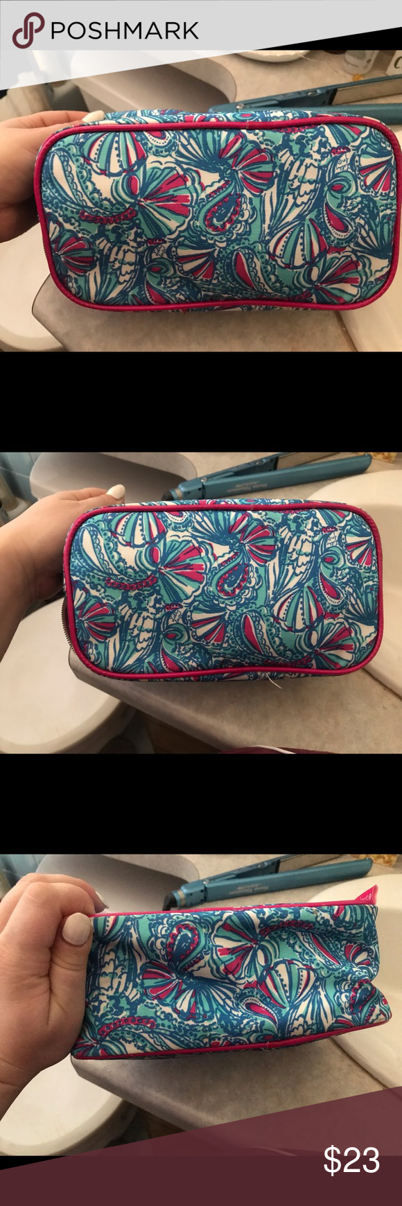 Lilly for Target Large Cosmetic Bag Some make up on the