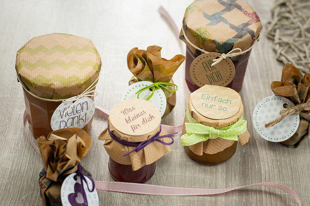 Marmelade im Weckglas schön einpacken Geschenke aus der Küche - selbstgemachte mitbringsel aus der küche