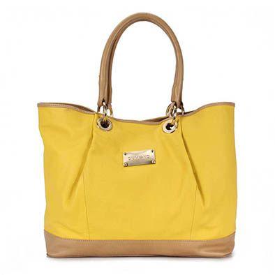 Bolsa De Couro Shop Bag Dumond 483178 - Amarelo
