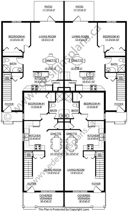 4-Plex 2013747 by Edesignsplans.ca | How to plan, Family ...