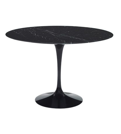 Saarinen 120cm Round Dining Table In Nero Marquina Marble Marble