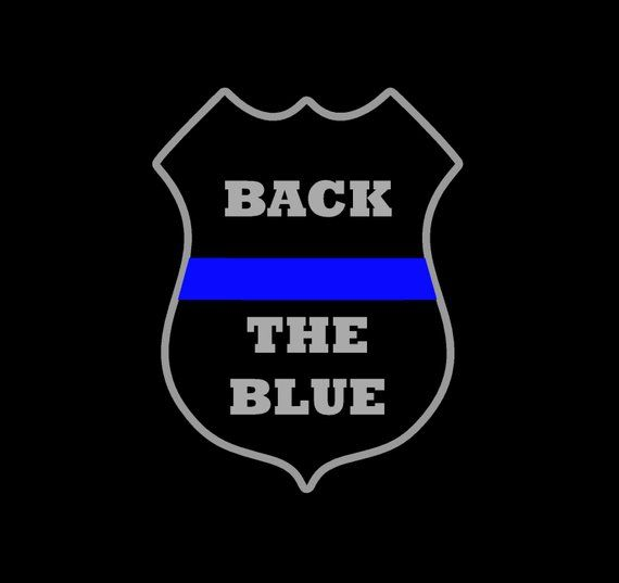 Back the Blue - Blue Lives Matter Decal - Police Badge - Thin Blue Line Decal - Cop - Law Enforcement Badge Decal