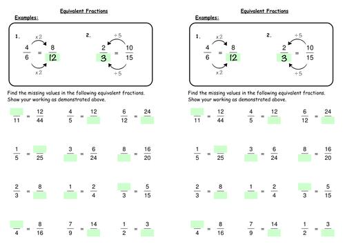 equivalent maths equivalent fractions key stage 2 maths math. Black Bedroom Furniture Sets. Home Design Ideas