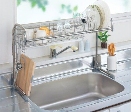 Amazon Com Mory Drainer Stainless Steel Sink Rack 65 110cm Width
