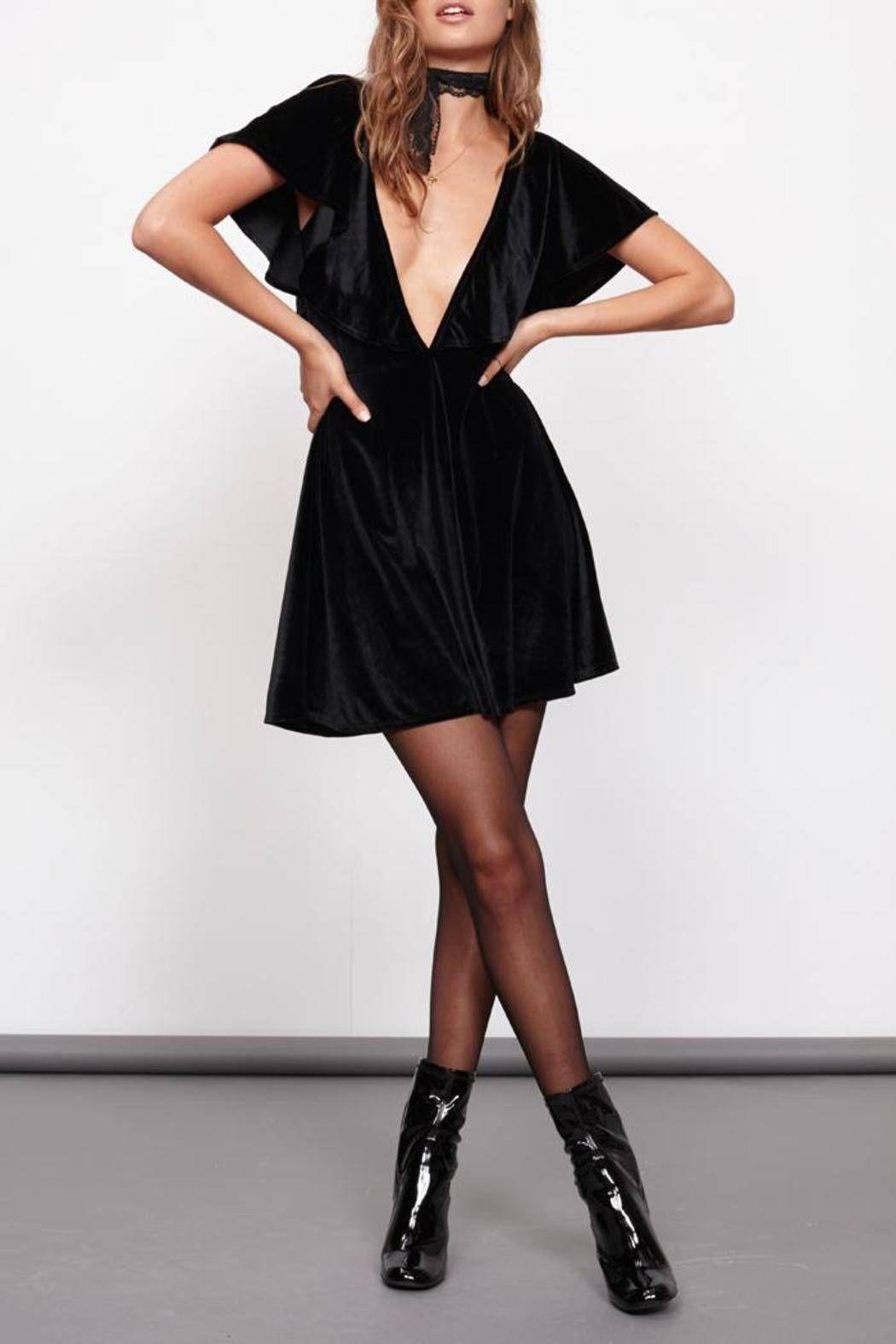 Minkpink Velvet Ruffle Dress Dresses Ruffle Dress Black Blouse [ 1575 x 1050 Pixel ]