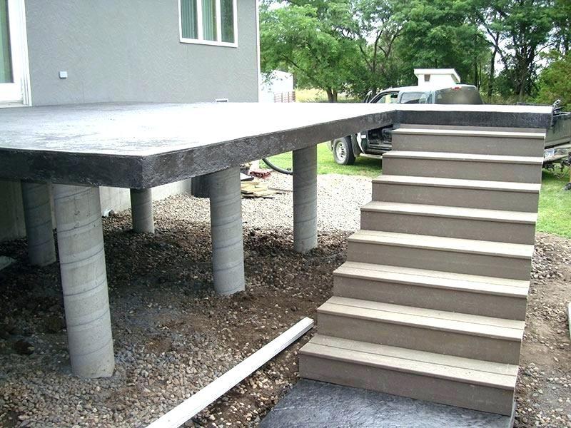 Raised Concrete Deck Elevated