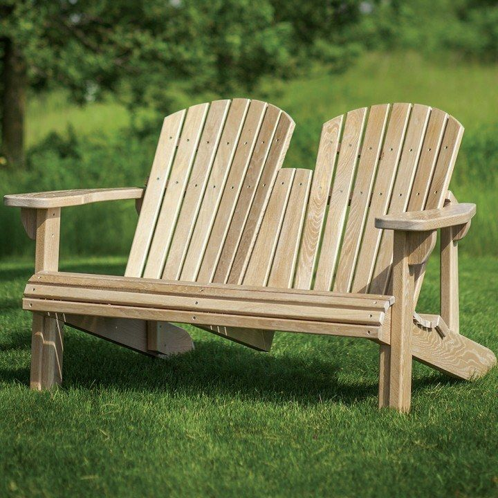 Adirondack Bench Templates with Plan and Stainless Steel Hardware ...