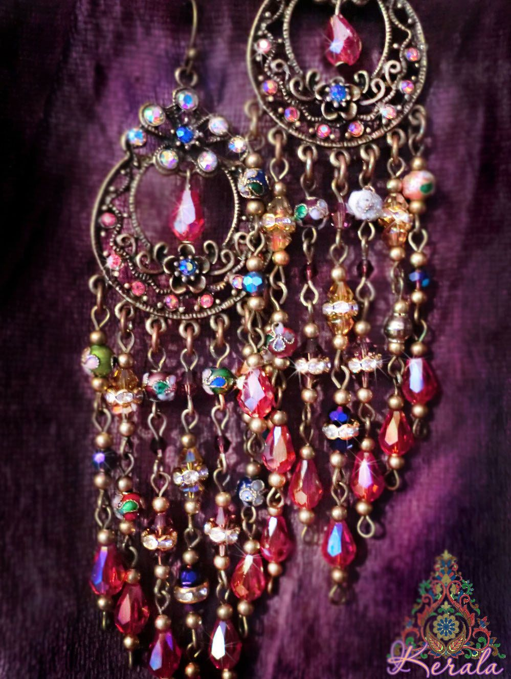 5 sparkling ruby red crystal chandelier earrings colorful beaded 5 sparkling ruby red crystal chandelier earrings colorful beaded bohemian earrings cloisonne arubaitofo Choice Image