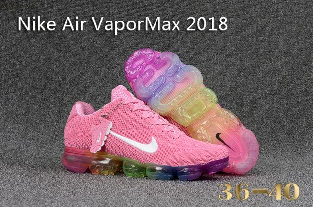 Nike Air Vapor Max 2018 KPU Pink White MultiColor Thirty years of technological innovation culminates on the crowning achievement of Air Max Day 2017 the Nike Air VaporMax Plyknit Kpu From Shoesextr is part of Pink running shoes -
