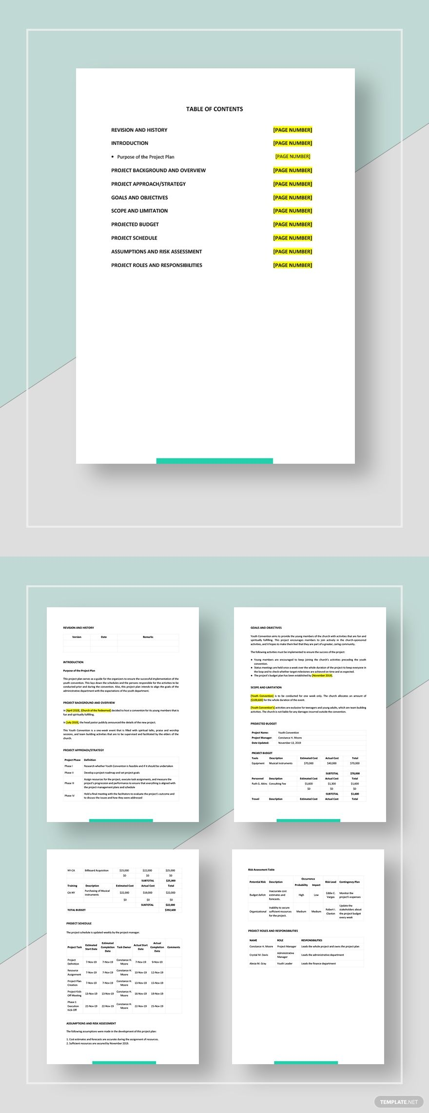 Church Project Plan Template AD, , AFFILIATE, Project