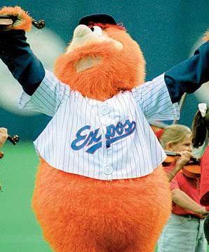 Youppi, the Montreal Expos mascot.