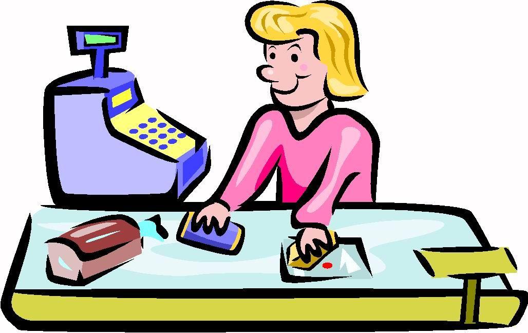 Cashier Cartoons: Cashier Job Graphics
