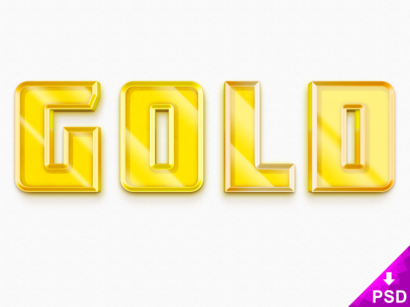 Free 3D Gold Text Style PSD (3 21 MB) | This Looks Great