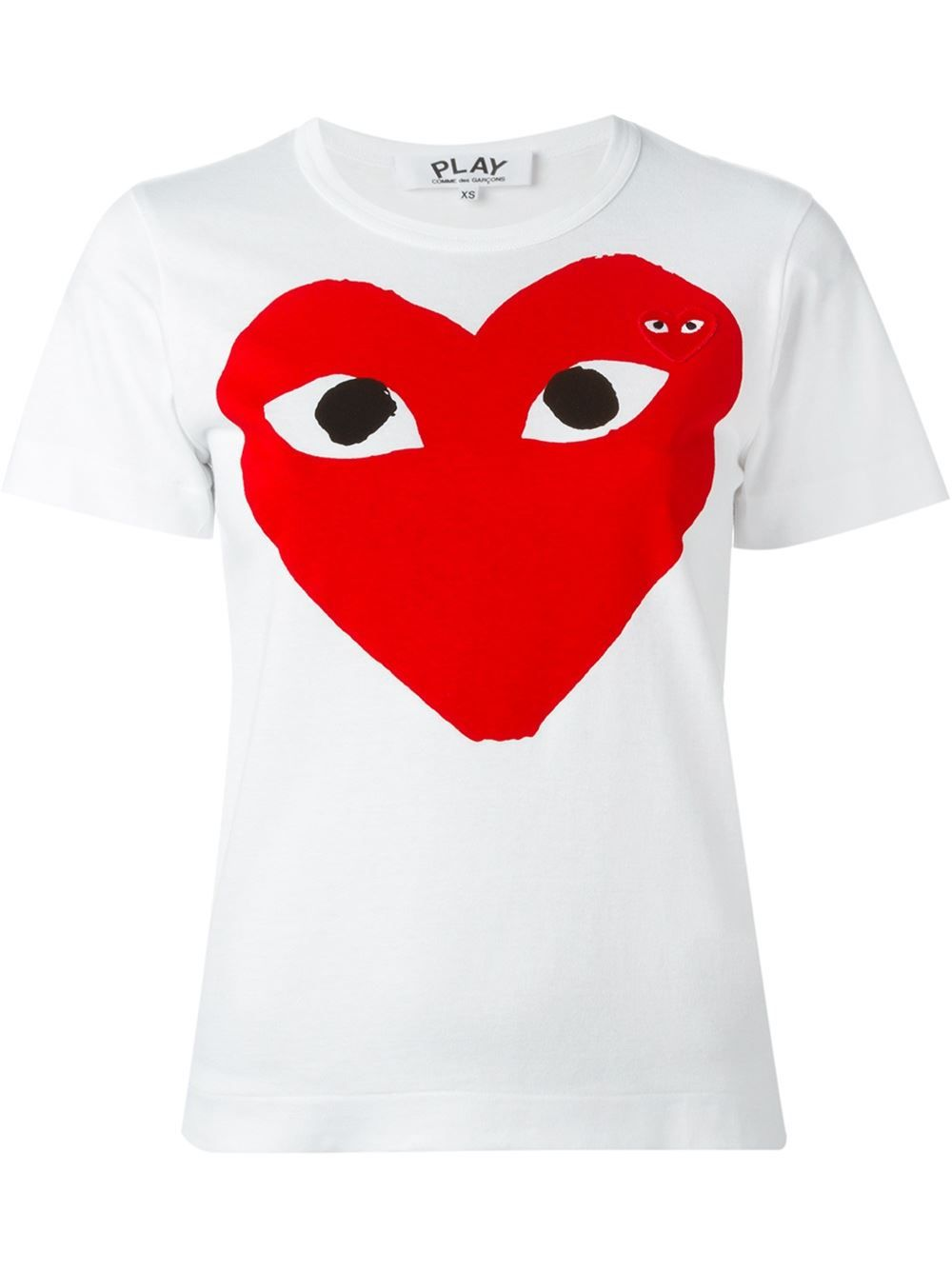 Comme Des Garçons Play Heart Eyes T shirt | Big men fashion