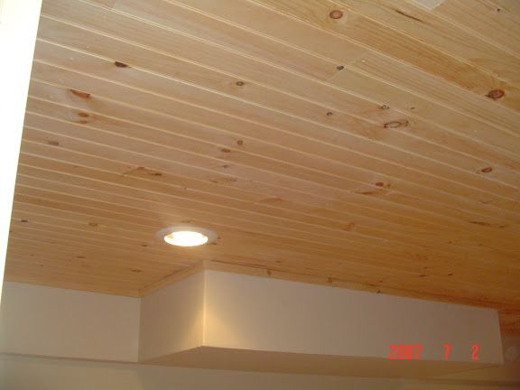 Tongue And Groove Basement Ceiling Option
