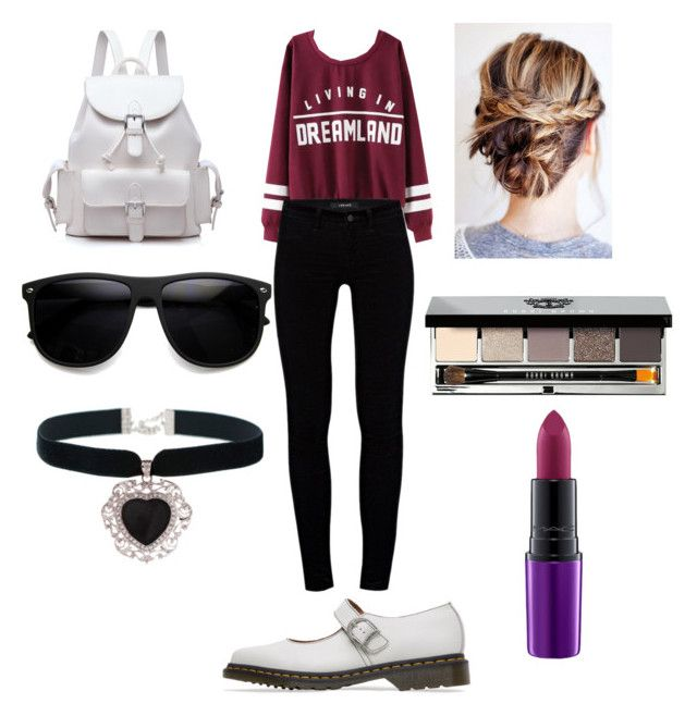 """""""Living In Dreamland: Varsity Style Sweater Look"""" by chicvintagegurl ❤ liked on Polyvore featuring J Brand, Rock 'N Rose and Bobbi Brown Cosmetics"""