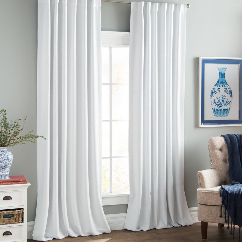 Freemansburg Solid Blackout Thermal Rod Pocket Single Curtain