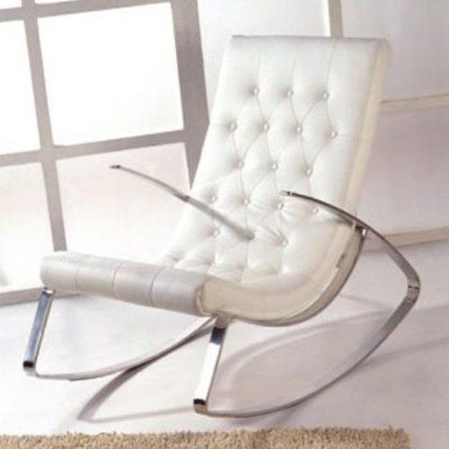 Miraculous Kirch K102 White Soft Rocking Chair Home Living Room Inzonedesignstudio Interior Chair Design Inzonedesignstudiocom
