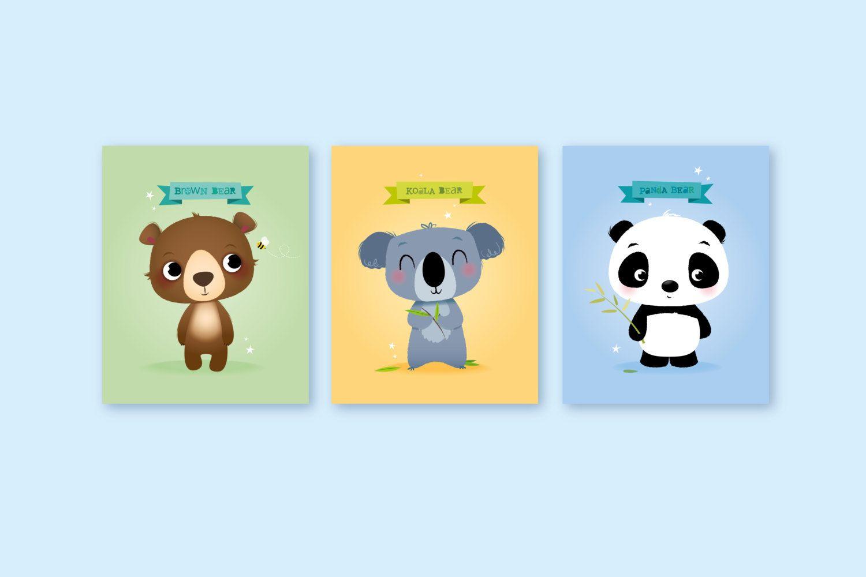 Baby shower gift, baby boy nursery prints, kids room decor, nursery ...