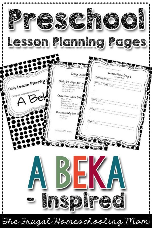 Free A Beka K4 Lesson Plans A Homeschooling Outline in