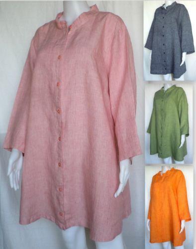 FLAX-Top-1G-1X-2G-2X-Sunshine-Vintage-Shirt-Tunic-5-Colors-NWOT