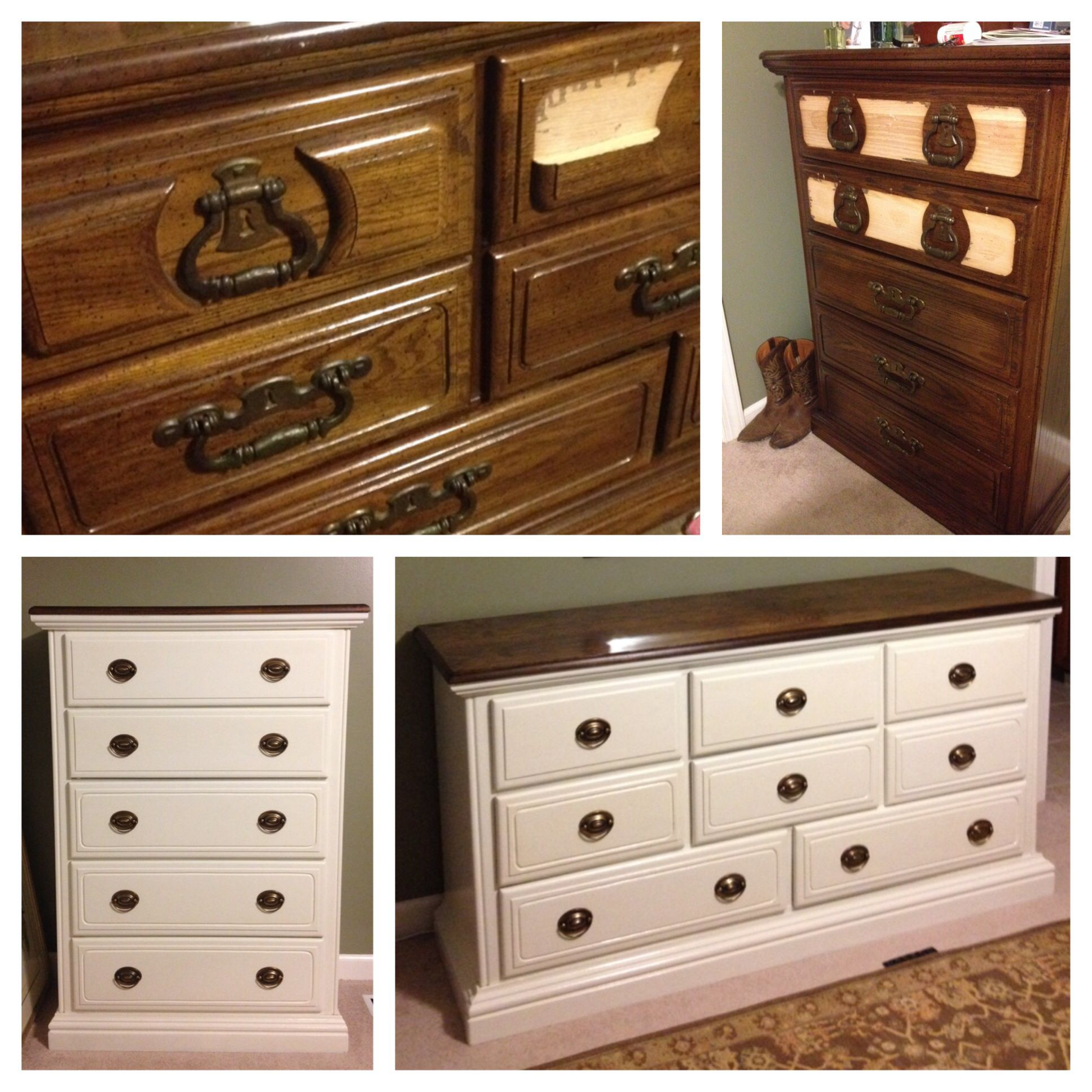 I Painted Our Inherited 1970s Dressers. I Love To Keep