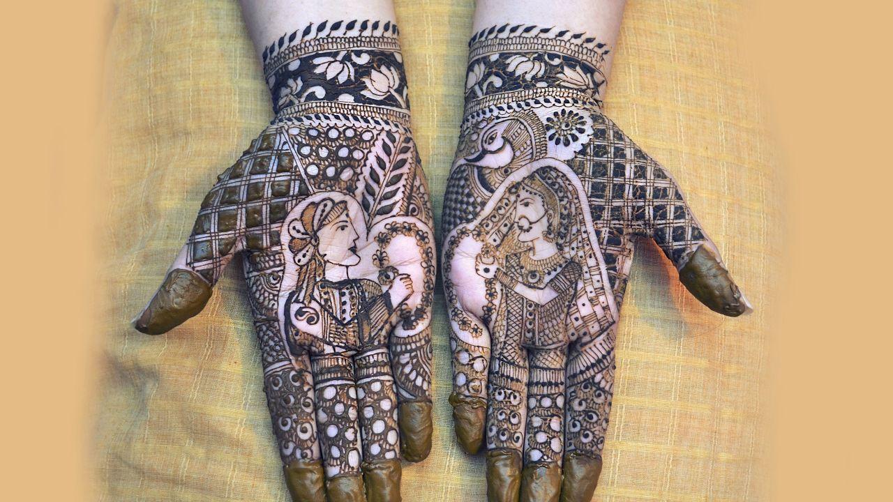 Bridal Mehndi Gta : Latest bridal henna design bride groom episode by jyoti